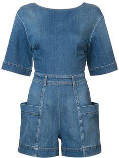 -- Stella McCartney Denim playsuit -- Only Always Denim Playsuit, Denim Jumpsuit, Playsuit Romper, Blue Jumpsuits, Playsuits, Jumpsuits For Women, Stella Mccartney, Looks Jeans, Estilo Jeans