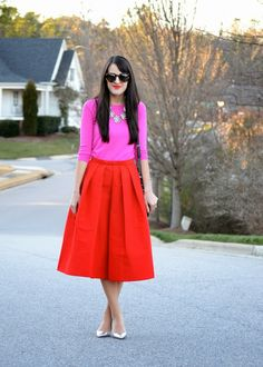 Pink pop. #pink #outfit #fashion