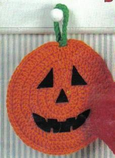 Halloween+Pumpkin+Crochet+Pattern | free crochet halloween pumpkin potholder pattern