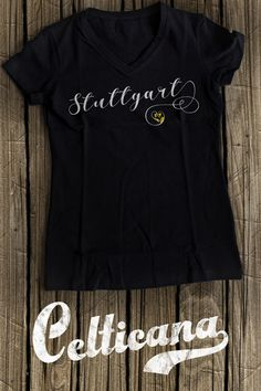 Stuttgart Heart t-shirts. If you love the wonderful German city of Stuttgart, you'll love this design! This scripted typographic design features the flag of the city in a heart. This design is available on a wide range of apparel, in unisex styles, and styles for men, women and kids. Here at Celticana we design ancestry, genealogy, country, state and city inspired t-shirts, hoodies and more. Wear the places you love!