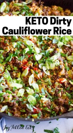 This Dirty Cauliflower Rice recipe is a keto spin on the classic Creole dish. Simple, quick, easy and so delicious, this Venison Recipes, Keto Recipes, Healthy Recipes, Ramen Recipes, Cabbage Recipes, Spinach Recipes, Noodle Recipes, Fudge Recipes, Cream Recipes