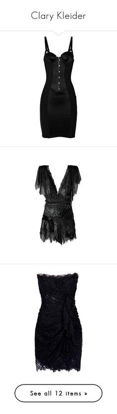 """Clary Kleider"" by kleinesbiest ❤ liked on Polyvore featuring dresses, lingerie, vestidos, short dress, la perla, tops, short dresses, balmain, chainmail dress and balmain dress"