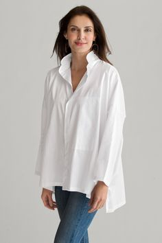 Signature Shirt by Planet. Simple, yet anything but basic, this white shirt creates an indispensable foundation in your wardrobe.