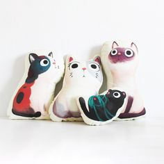 These cushions from The Little Red House are simply made for our inner cat lady. So much yes. Browse the collection on the site!