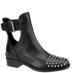 #MiuMiu studded ankle boot.