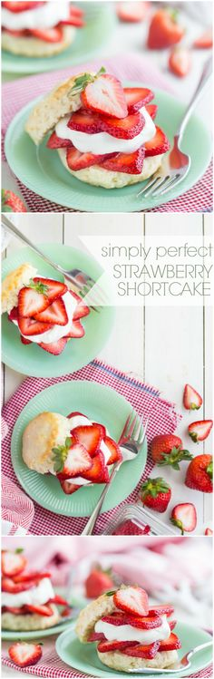 Simply Perfect Strawberry Shortcake- a summer staple! This version is made the old-fashioned way. Best Cake for birthday Cheesecake Desserts, Just Desserts, Delicious Desserts, Dessert Recipes, Yummy Food, Fruit Recipes, Cupcake Recipes, Yummy Recipes, Trifle Pudding