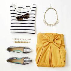 Yellow Bows || #gap #mindymaesmarket #bow #outfit