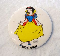 Vintage Snow White Pin by VintageEstateLiving on Etsy, $8.99