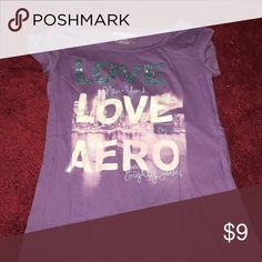 Love NY aero shirt Purple Aeropostale shirt.. Says large but in a medium and fits perfectly Aeropostale Tops Tees - Short Sleeve