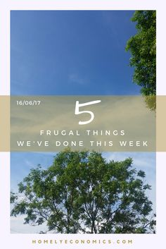 5 Frugal things we've done this week: lots of DIY has meant lots of purchasing, so here's how we've found the best value for money.