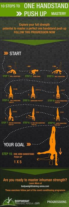 One handstand push-up