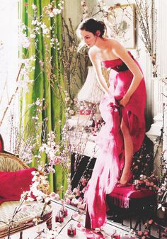 Lisa Cant by Tim Walker for Carolina Herrera Parfum