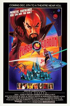"""Flash Gordon (1980). """"Pathetic Earthlings. Who can save you now?"""""""