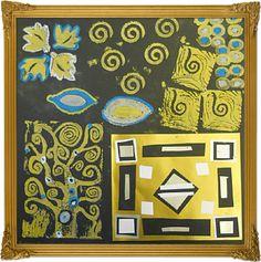 Klimt collage and printmaking patterns