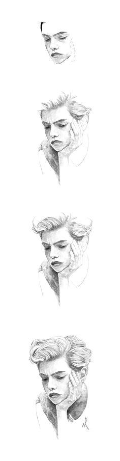 model stella maxwell drawing / illustration / instagram is kimnalgae