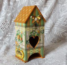 """Купить Чайный домик """" Цитрусовый рай"""" - белый, чайный домик, чайная коробка"""