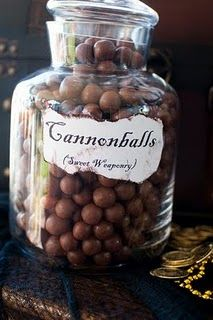 Cannonballs (sweet weaponry) = Whoppers