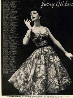 Jerry Gilden dress 1954