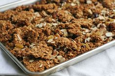 not just baked | Almond, Date, Cacao Nib Granola | http://notjustbaked.com