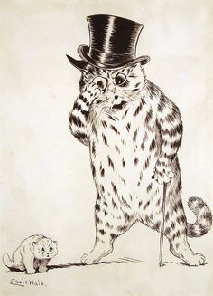 The Telling Off, United Kingdom, date unknown, by Louis Wain.