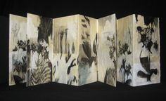 Jill Hubley Joint Scrapes 2010 Mixed media, 10 pages, flat back cover, accordion fold, one-of-a-kind artist book