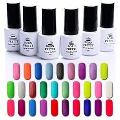 Promo 1 Bottle BORN PRETTY 5ml Matte Soak Off Nail UV Gel Polish Manicure Nail Art UV. Click visit to check price #NailGel