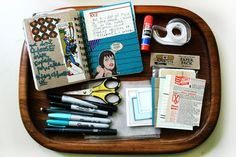 All about Art Journals, what goes in it, what it contains, dos & don'ts, supplies. For your art journals Art Journal Pages, Journal D'art, Creative Journal, Bullet Journal, Scrapbook Journal, Art Journals, Journal Ideas, Altered Books, Altered Art