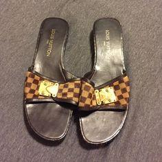 Louis Vuitton slide on Louis Vuitton slide on. Great condition Louis Vuitton Shoes Sandals