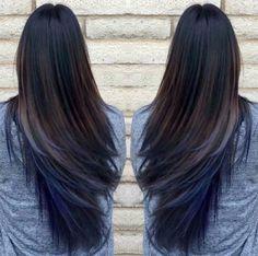 Dark Brown to Blue