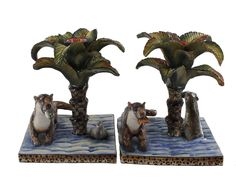 Otter Candlesticks | The Ardmore Collection | Fine Ceramic Art