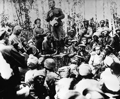 A meeting of soldiers of the first army corps near Dvinsky. Contemporary History, Russian Revolution, Wwi, Soldiers, Buildings, March, Pictures, Photos, Modern History