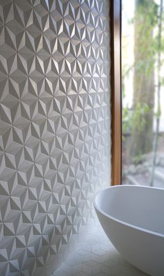 Delta Hex Tiles [Not so into 3-D wall treatments but this one is cool!]