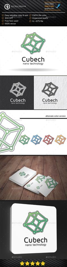 Cube Technology - Logo Template by artha_desain Cube Technology Logo Template is a elegant, professional, clear, simple logo design. fully editable text and colors. It allows you