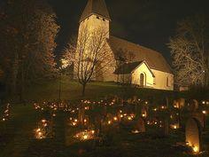 All Saint's Day, Salems Kyrka, Rönninge, Stockholm, Sweden