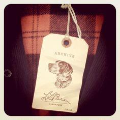 L.L.Bean Signature archive tag