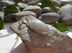 Pendentif argent 925 pierre de lune, bijou pierre de lune argent 925, bijou chic en pierre naturelle, bijou : Pendentif par lapassiondisabelle