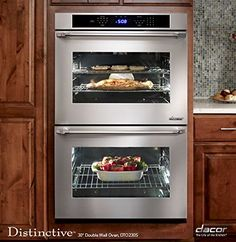 The DistinctiveDouble Wall Oven from #Dacor not only enhances your kitchen with its timeless design and classic beauty but enriches your cooking results with the...