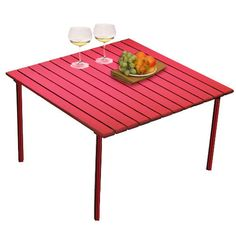 Table in a Bag Low Aluminum Table (Red) (27x27x16)