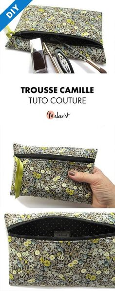 Tuto Couture PDF - Trousse Camille via Makerist.fr