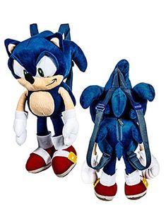 Sonic the Hedgehog Kids Plush Backpack @ niftywarehouse.com #NiftyWarehouse #Sonic #SonicTheHedgehog #Sega #VideoGames #Gaming
