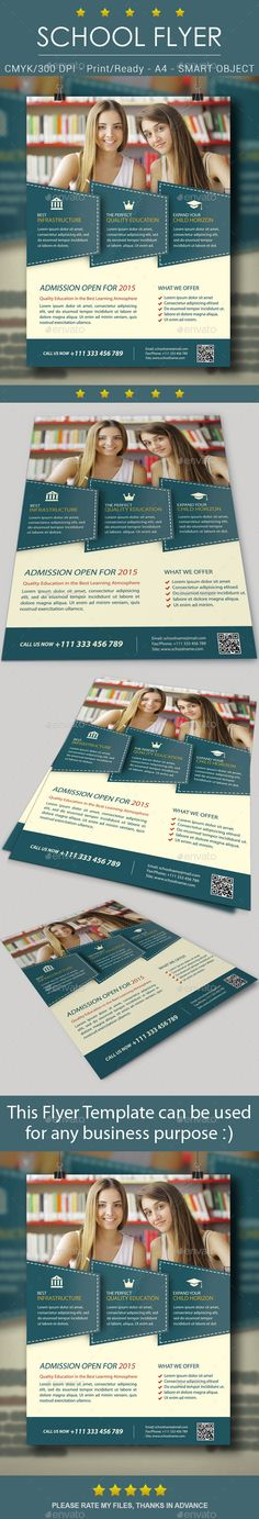 Infographic Tutorial infographic tutorial illustrator cs3 templates for flyers : School Education Flyer Template | Colleges, Creative and ...