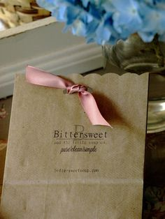 a gift of lavender buds from Bittersweet