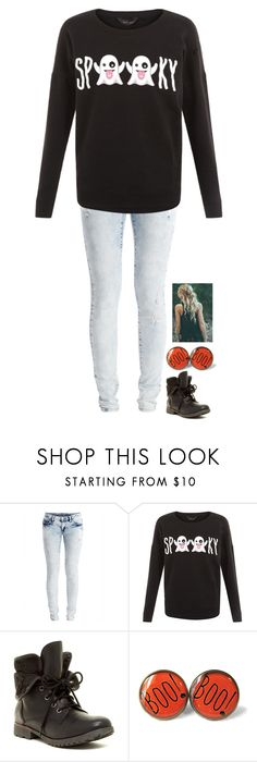 """""""Are you guys excited for Halloween??"""" by neb1211 ❤ liked on Polyvore featuring VILA and Rock & Candy"""