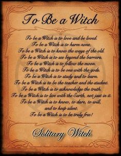 This is a great explanation of what it means to be a witch.
