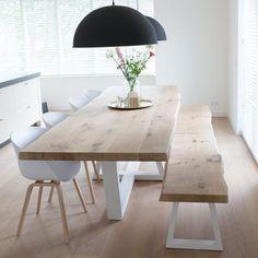 Idée relooking cuisine  ZWAARTAFELEN I Boomstamtafel van Zwaartafelen I www.zwaartafelen.nl I #boomstamt
