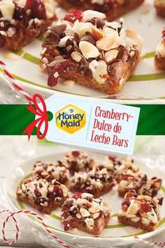 Bring the holiday flavors together with our Cranberry-Dulce de Leche Bars. Sweet and satisfying flavors in every bite. Find this #NabiscoHolidayRecipe and more at www.snackworks.com Bakery Recipes, Sweets Recipes, Easy Desserts, Delicious Desserts, Holiday Baking, Christmas Desserts, Holiday Treats, Holiday Recipes, Cranberry Recipes