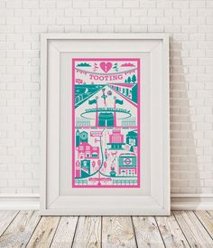 Tooting print / London illustration by RayStanbrookPrints on Etsy