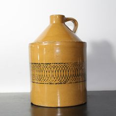 Vintage Yellow ware or Stoneware jug - free shipping within US