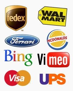 Mashing up the logos of major companies with their competition :)
