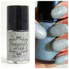 Silver Holographic Microglitter Nail Polish #nailpolish #holographic